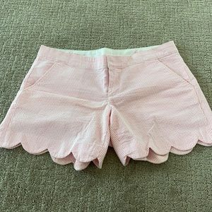 Lilly Pulitzer pink white striped shorts 6
